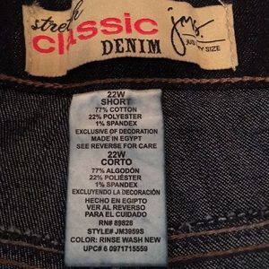 Just My Size Jeans - SOLD JMS Stretch Classic Denim Jeans NWOT